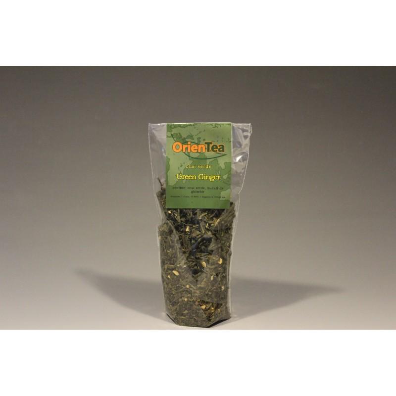 Green Ginger - Ceai verde cu ghimbir 80g