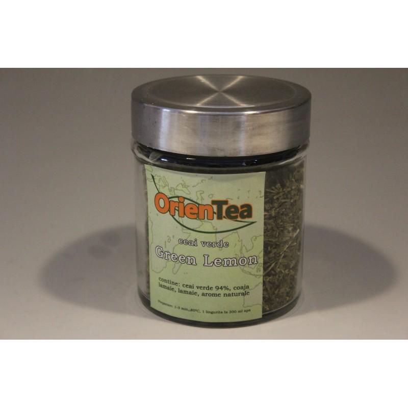 Green Lemon - Ceai verde cu lamaie 80g borcan mic
