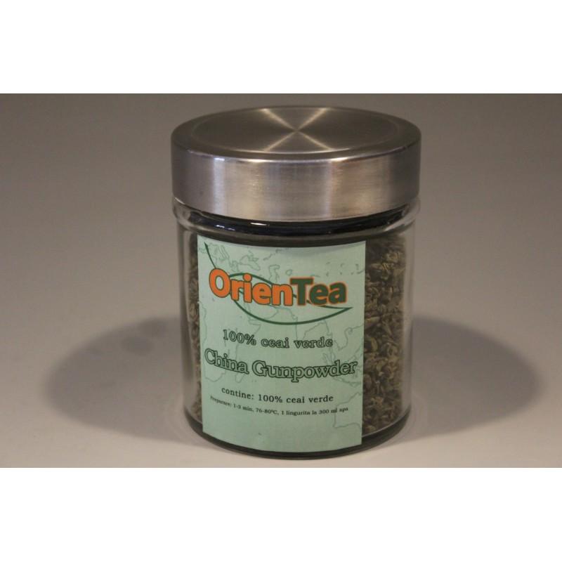 China Gunpowder - Ceai verde 80g borcan mic