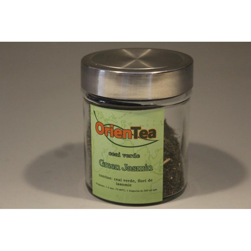 Green Jasmin – Ceai verde cu iasomie 80g borcan mic
